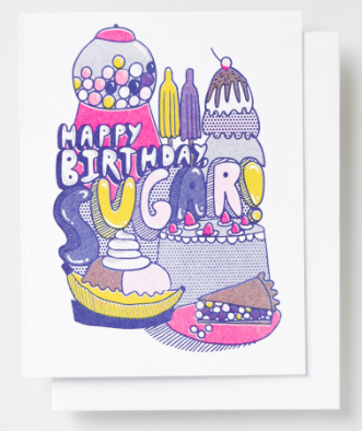 Happy Birthday Sugar Card Yellow Owl