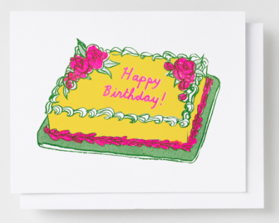 Happy Birthday Cake Card Yellow Owl