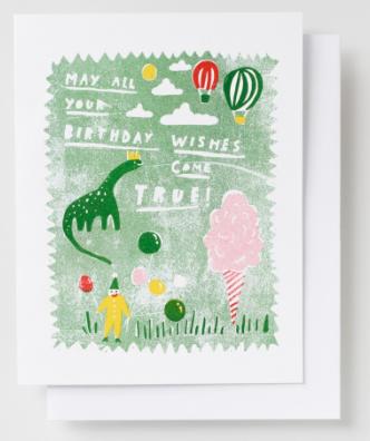 Dino Birthday Wishes Card