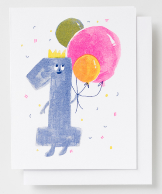 Birthday 1 Card - Yellow Owl