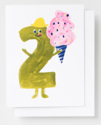 Birthday 2 Card - Yellow Owl