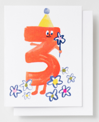 Birthday 3 Card - Yellow Owl