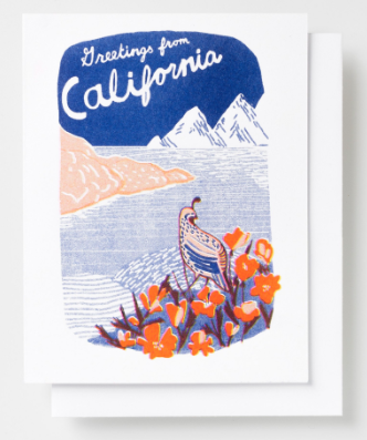 Greetings from CA Card Yellow Owl