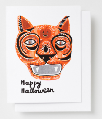 Happy Halloween Card Yellow Owl Workshop
