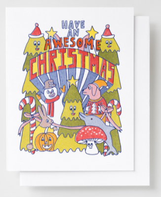 Awesome Christmas Card Yellow Owl Workshop