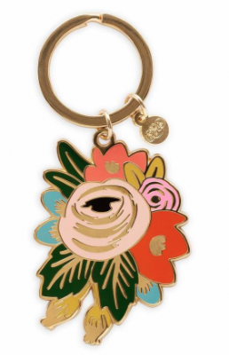 Rosa Keychain VE Rifle Paper Co