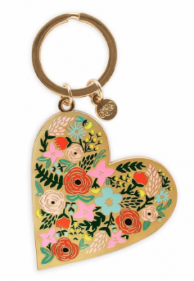 Floral Heart Keychain VE Rifle Paper