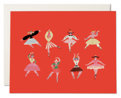 Birthday Dancers Card - Red Cap Cards