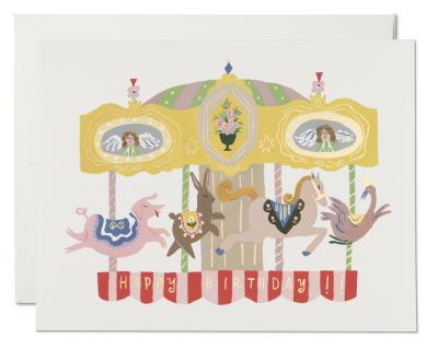 Merry Go Round Card Red Cap