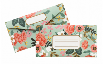 Mint Birch Monarch Envelopes - VE