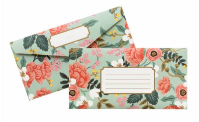 Mint Birch Monarch Envelopes - VE