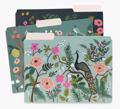 Shanghai Garden File Folders - Einlegemappen