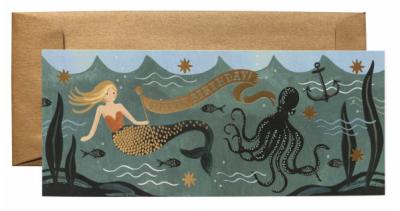 Under the Sea Birthday Long Card - VE 6