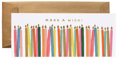 Make Wish Candles Long Card VE