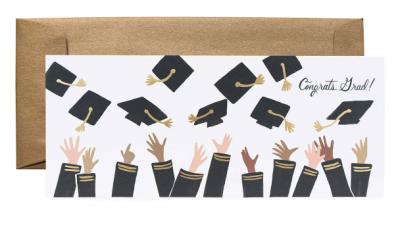 Congrats Grad Long Card - VE 6
