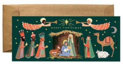 Holiday Nativity Long Card Rifle Paper