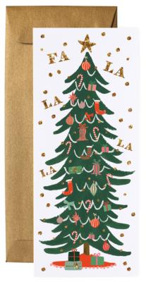 Christmas Tree Long Card Rifle Paper