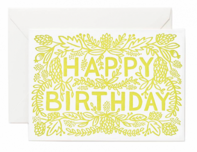Letterpress Birthday