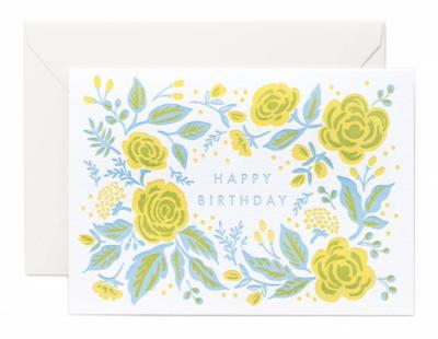 Jardin Birthday Letterpress Card - Rifle Paper Co.