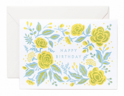 Jardin Birthday Letterpress Card Rifle Paper