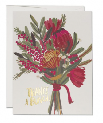 Queen Protea Thanks Card - Red Cap Cards