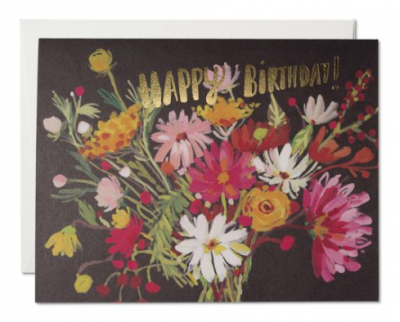 Vintage Bouquet Card - Red Cap Cards
