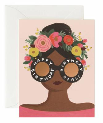Flower Crown Birthday Girl - Riffle Paper Co.