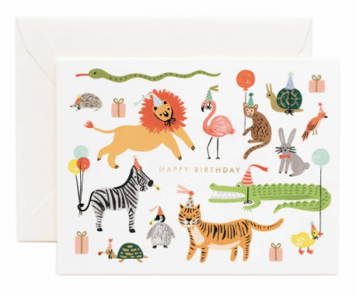 Party Animals Card Rifle Paper Co