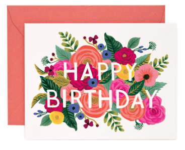 Juliet Rose Birthday Card Rifle Paper