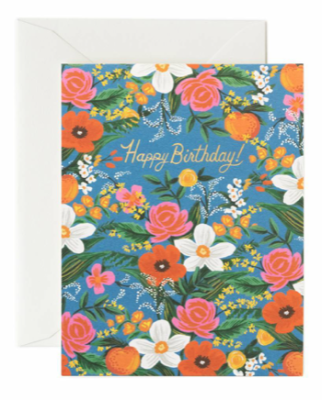 Orangerie Birthday Card - Greeting Card