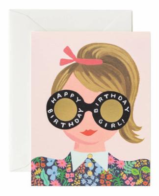 Meadow Birthday Girl Card - Greeting Card