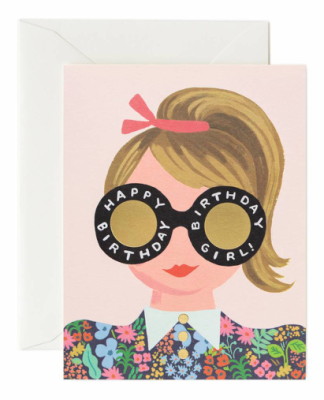 Meadow Birthday Girl Card - Greeting Card