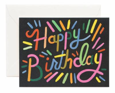 Fireworks Birthday Card - Greeting Card
