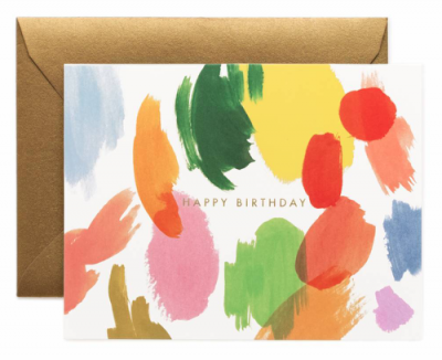 Palette Birthday Card - Greeting Card