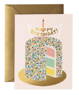 Layer Cake Birthday Card - Greeting Card