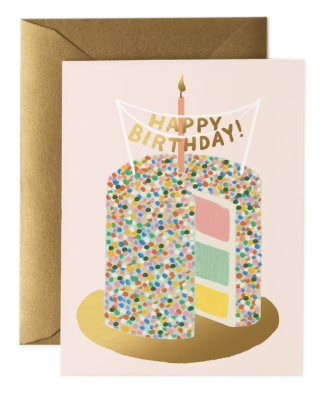 Layer Cake Birthday Card Greeting Card