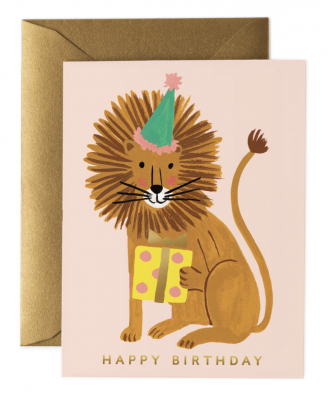 Lion Birthday Card - Greeting Card