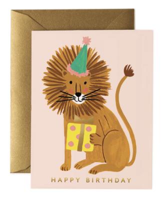 Lion Birthday Card - Greeting Card