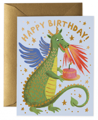 Birthday Dragon Card - Greeting Card