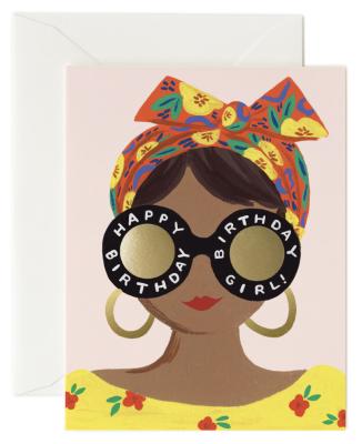 Scarf Birthday Girl Card Rifle Paper