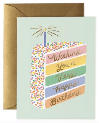 Cake Slice Birthday Card Rifle Paper