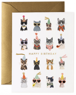 Cool Cats Birthday Card Rifle Paper
