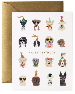 Party Pups Birthday Card Rifle Paper