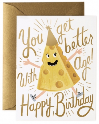 Better with Age Birthday Card Rifle