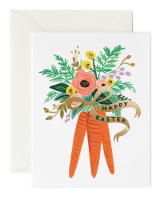 Carrot Bouquet Card - Osterkarte