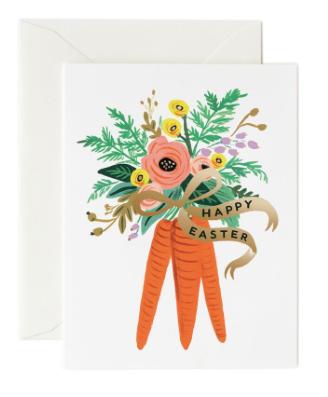 Carrot Bouquet Card - Osterkarte