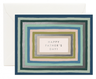 Striped Fathers Day Card Greeting Card