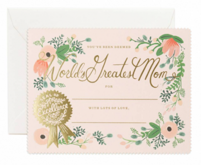 Greatest Mom Certificate - VE 6