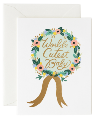 World s Cutest Baby Award - Rifle Paper Co.