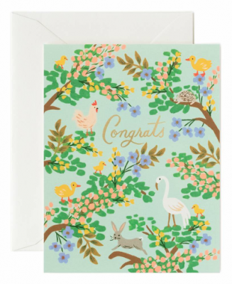 Congrats Forest Card - Greeting Card